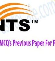 NTS-MCQ's-Previous-Paper-For-Physics